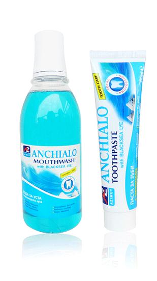 Вода за уста и паста за зъби с черноморска луга АНХИАЛО